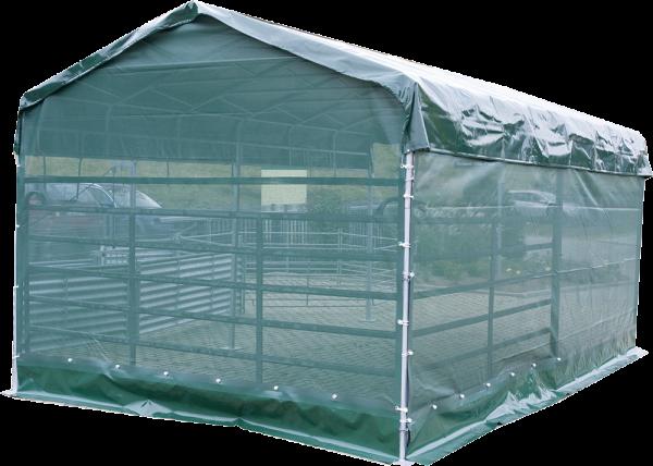 Windschutznetz für Panel-Dach 6 m x 3,6 m, Seitenteil L=6 m