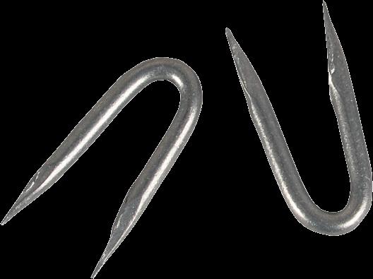 1 kg Schlaufen (Krampen), verzinkt, 3,8x38 mm,1 kg=ca. 155 Stück