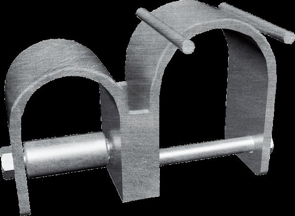 Schelle unten zum Rahmen zur Halsweiteneinstellung