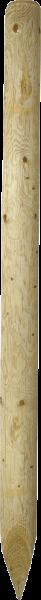 2,25 m Ø 10 cm Holzpfosten, imprägniert, gespitzt