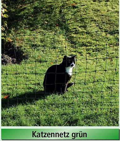 Euro Katzen-Netz 75/1, grün, Länge 25 m