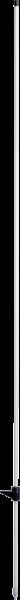 10 Stk. Glasfiberpfahl 10 mm, Länge 1,60 m, eingeklebte Trittstufe