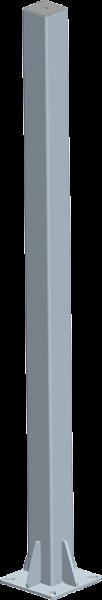 Pfosten 90, Länge 1,65 m, mit Bodenplatte