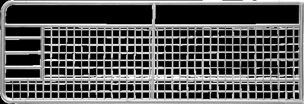 Weidetor, Höhe 100 cm, Länge 4,5 m, mit Gitter