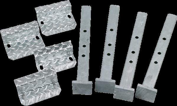 Abstellfüße für A5000, inkl. Montageplatten für Wiegebalken
