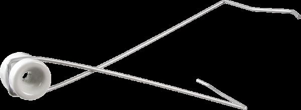 10 Stk. Abstandhalter zum Einhängen mit Porzellan-Isolator