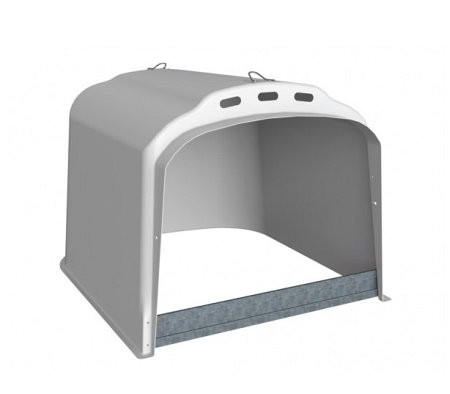 Großraum-Kälberhütte XL ohne Umzäunung