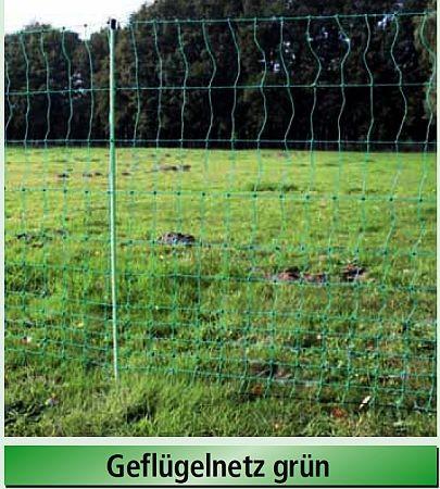 Euro-Netz Geflügel 112/2, grün, Länge 50 m, nicht elektrifizierbar