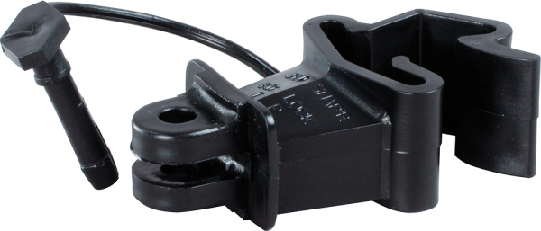 500 Stk. Standard-Isolator mit Stift für T-Pfosten, schwarz, für Draht, Litze, Seil