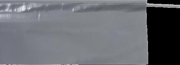 Bodenabschlusslippe grau, Höhe 34 cm -Aufpreis pro Meter Torbeite-