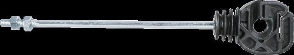 10 Stk. Seil- und Bandisolator mit langem Schaft, Schaftlänge 18 cm, Gewinde M6