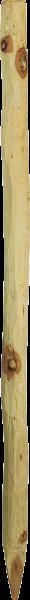 Robinienpfahl, rund, 1,5 m, d= 6-8 cm, gefast, 4-fach gespitzt, entrindet