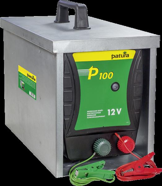 P100, Weidezaun-Gerät für 12 V Akku mit geschlossener Tragebox Compact
