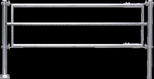 Futtertischabtrennung 3-rohrig, Länge 5 m, 1 Strebe