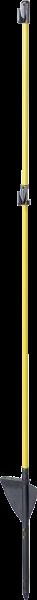 10 Stk. Oval-Glasfiberpfahl, 1,10 m, mit Trittstufe, durchgehende Glasfaserspitze