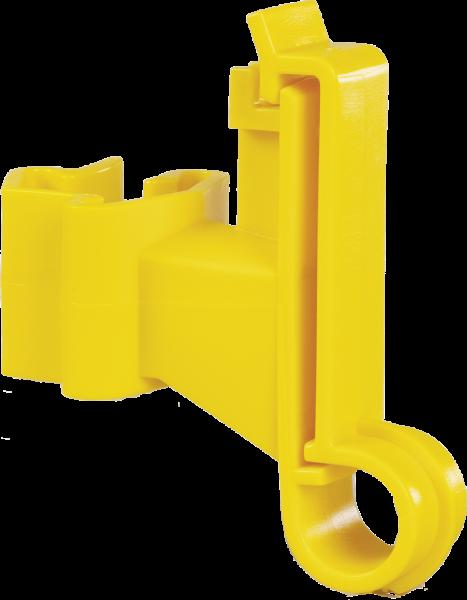 25 Stk. Breitband-Isolator für T-Pfosten, für Breitbänder bis 40 mm, gelb