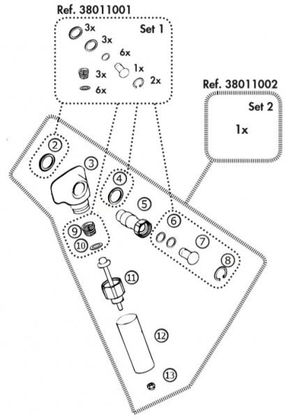 Reparatur-Set 2 für Compact Becken Rohrventilausführung