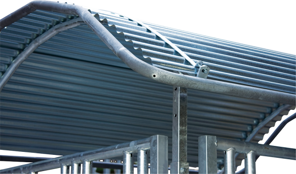 Dachkanten-Schutzbügel für Profi-Viereckraufen
