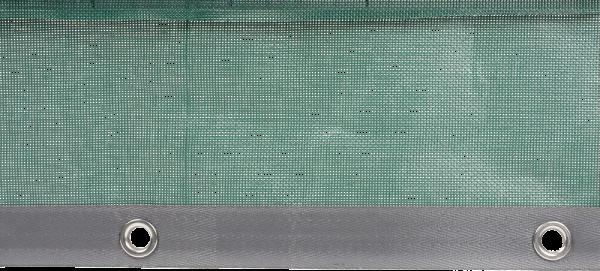 Aufpreis Randverstärkung 50 mm, mit Ösen alle 25 cm, Preis pro Meter