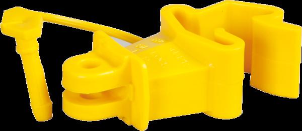 25 Stk. Standard-Isolator mit Stift für T-Pfosten, gelb, für Draht, Litze, Seil