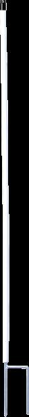 10 Stk. 1,46 m Kunststoffpfahl rund 19 mm Ø, Doppelspitze