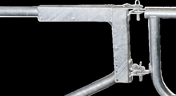 Montagerahmen f. Abtrennungen R2LB an Liegeboxenbügel mit 60 mm Rohrstärke