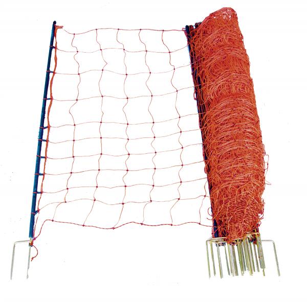 Wolfsabwehrnetz, Höhe 145 cm, mit Doppelspitze, 50 m