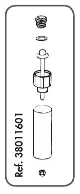 Ventilunterteil Messing mit Feder zu Rohrventil-Becken Compact Edelstahl