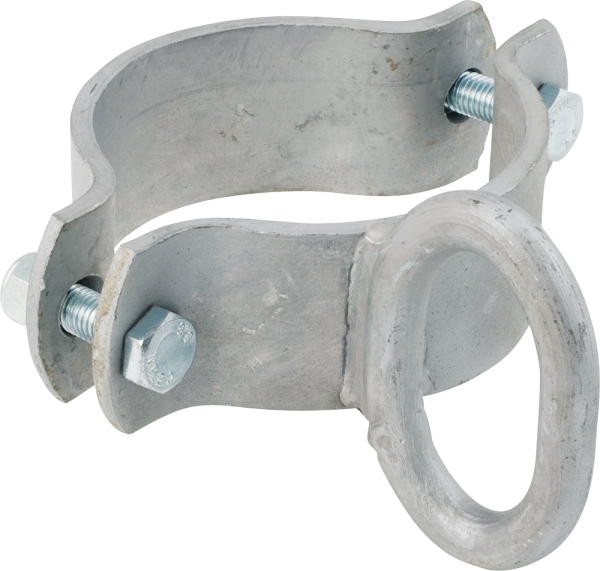 Schelle 102 mm, 1 Riegelhalter, leicht