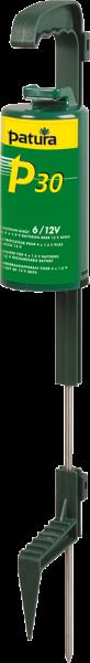 Patura P30, Weidezaungerät mit Standfuß (=Erdstab), für 4 Monozellen oder externen 12 V Akku