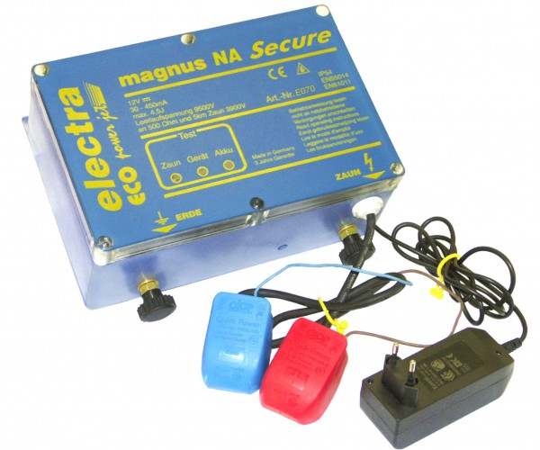 magnusNA Secure, Sicherheits-Weidezaungerät mit Notstromfunktion 230V/12V
