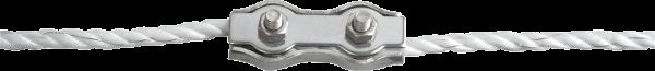 3 Stk. Seilverbinder Edelstahl, für Seile bis 6 mm