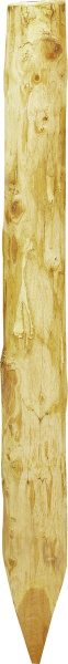 Robinienpfahl halbiert, Länge 1,8 m, D = 13-15 cm