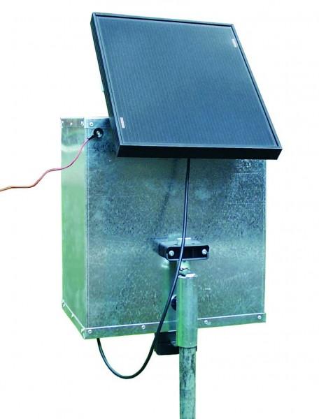 comapct A2500 mit Metallschrank und Solarmodul 12 V, 10 W