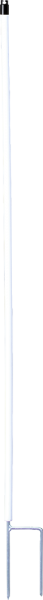10 Stk. 1,71 m Kunststoffpfahl rund 19 mm Ø, Doppelspitze