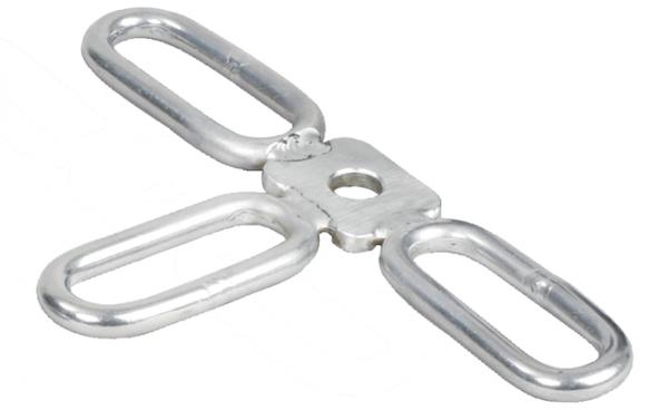 3 Stk. Einhängelaschen 3-fach, für T-Pfosten-Isolatoren mit Stift
