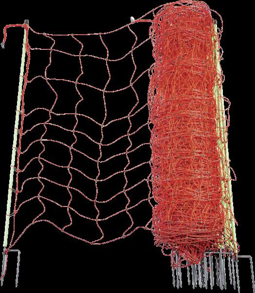 Wolfsabwehrnetz, Höhe 120 cm, mit Doppelspitze, 50 m