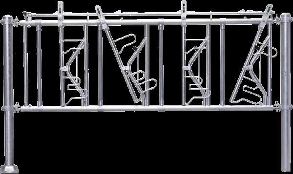 Sicherheits-Selbstfangfressgitter SSV 8/5,4, 8 Fressplätze, Nennlänge 540 cm