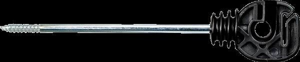 10 Stk. Seil- und Bandisolator mit langem Schaft, Schaftlänge 18 cm, Holzgewinde