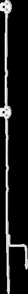 10 Stk. 1,13 m Drehfix Stahlpfahl mit 2 Isolatoren, mit stabiler Metall-Trittstufe
