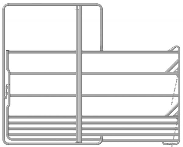 Sicherheits-Pferdepanel mit Tor, Länge 3,60 m, Höhe 2,40 m