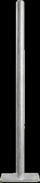 Pfosten 76, Länge 1,55 m, mit Bodenplatte für Sauberkeitsschicht