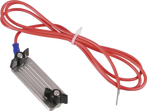 Zaunanschlußkabel Breitband, Edelstahl-Klemmplatten 40 mm, 3 mm Stift