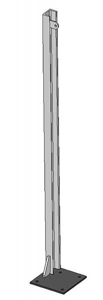 U-Profil 65x42x5,5mm, L= 1,45 m, mit Bodenplatte links, vz