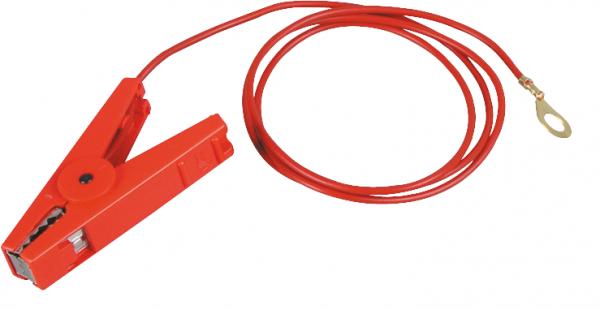 Zaunanschlußkabel, 8 mm Ringöse, rot, isolierte Edelstahlklemme