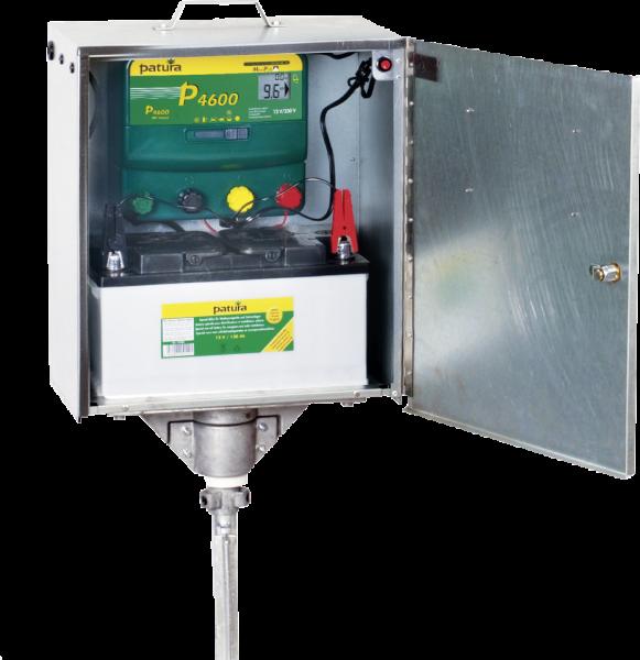 Patura P4600 mit Sicherheitsbox u. Erdstab, Kombi-Weidezaungerät 230V/12V