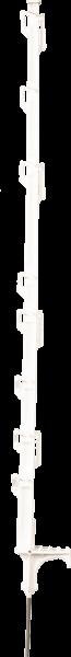 10 Stk. 1,05 m DrehFix Kunststoffpfahl, weiß, 8 Drahthalter