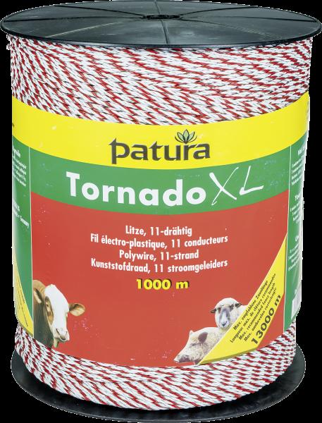 1000 m Tornado XL Litze, 0,08 Ohm/m, 8xEdelstahl-, 3xKupferleiter, weiss-orange