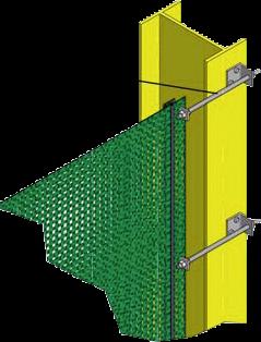 Montage-Set mit Spannschrauben zum Spannen von Windschutznetz, Höhe 2,0 m