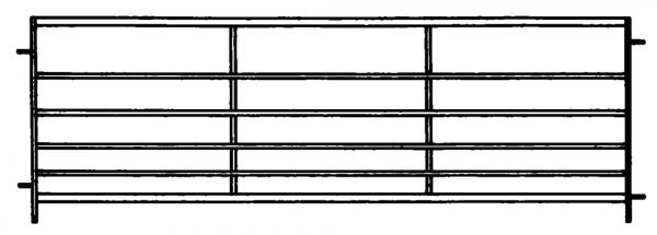 Horde, 6 Rohre, Länge 3,00 m, Höhe 0,91 m